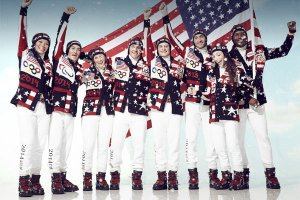 The US team's opening ceremony outfits designed by Ralph Lauren. image source - latimes.com